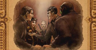 Gat out of Hell cutscene - Sharp, Shogo, Jyunichi, Kazuo, Killbane forming their alliance