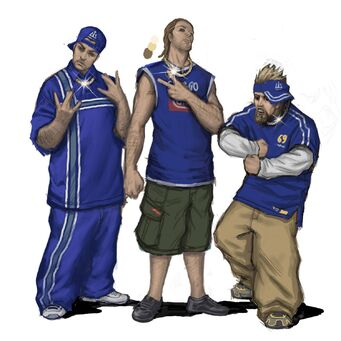 Westside Rollerz Concept Art - three gang members