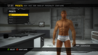 Initial Player Customization with default character in Saints Row 2