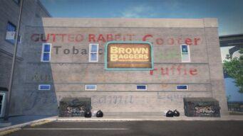 Brown Baggers Rebadeaux exterior sign