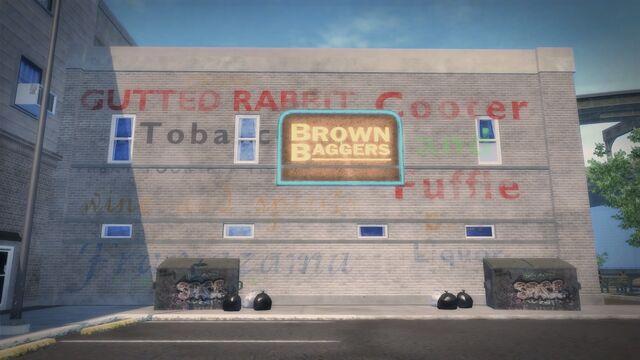 File:Brown Baggers Rebadeaux exterior sign.jpg