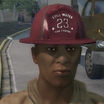 Fireman helment mispells Stilwater