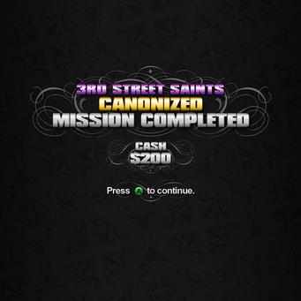 Canonized mission complete 200 Cash