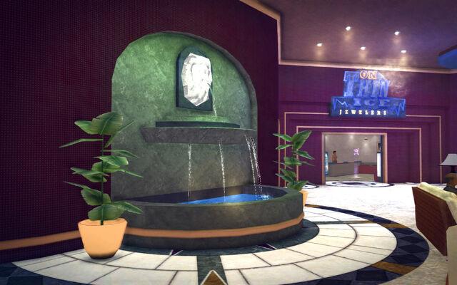 File:Huntersfield in Saints Row 2 - Hapton Hotel lobby fountain.jpg