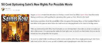 Saints Row movie Kotaku article