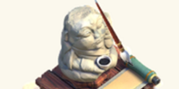 Scroll Statue