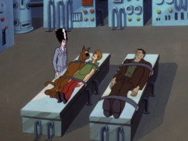 Shag and Scoob in Dracula's lab