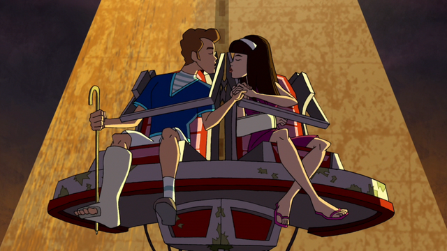 File:Dylan and Brenda kiss on Nauseater.png