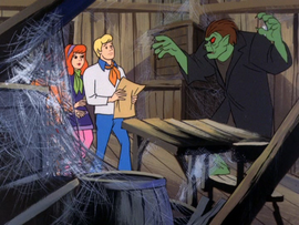 Werewolf catches Fred and the girls with his map