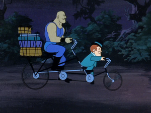 Max the Midget and Samson the Strongman's tandem bicycle