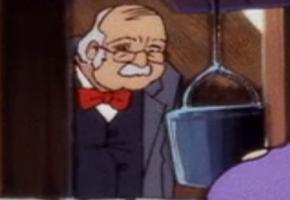 Elderly tourist wearing bow tie (Witch's Ghost)