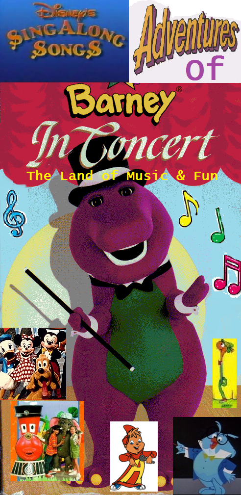 disney 39 s sing along songs 39 adventures of barney in concert the land of music fun scratchpad. Black Bedroom Furniture Sets. Home Design Ideas