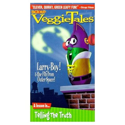 Opening to veggietales larry boy and the fib from outer for Outer space studios