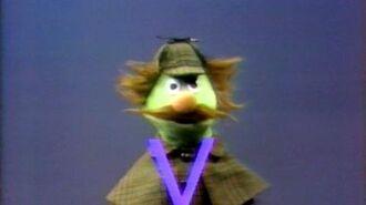"""Classic Sesame Street Sherlock Hemlock shows the Letter """"V"""" (Spanish)"""