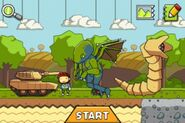 Scribblenauts Remix - Tank, Cthulhu, Sandworm, and Maxwell