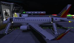 Philippine Airlines at GATE of home base SLGR Grenadier 01 001