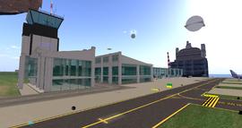 Aleksandr Airport Terminal, looking SW (03-14)