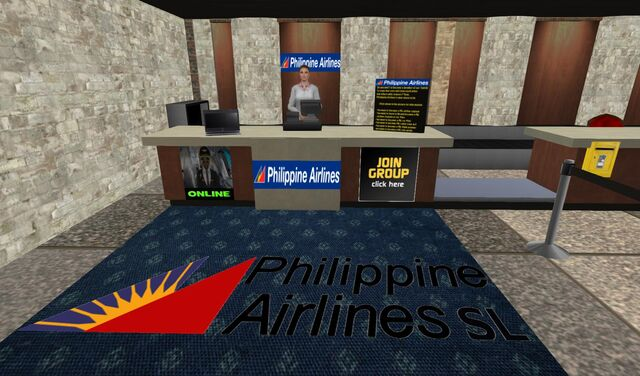 File:Philippine Airlines check-in and info booth at Cheerport Airport-Marina 01 001.jpg