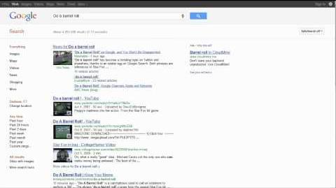 Do a Barrel Roll - Google Easter Egg