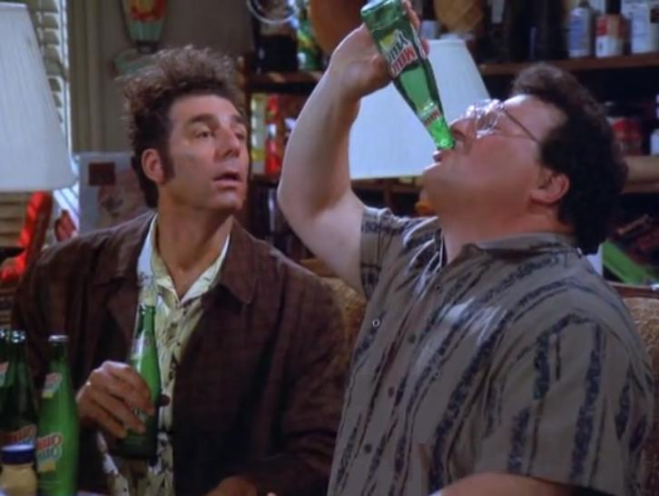 "In this episode of Seinfeld, called ""The Bottle Deposit,"" Kramer collects bottles from throughout New York City and brings them to Michigan upon discovering he can recieve 10 cents back for each bottle in that state."