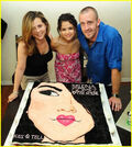Selena with her family