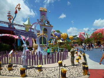 Seuss landing street of the lifted lorax by okamiartist-d5c07qn-1-