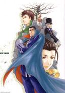 Kato, ouka, ben, albert, and jeanne illustration