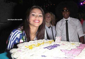 Zendaya-coleman-16th-birthday-cake