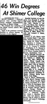 Morning Star.1963-06-06.46 Win Degrees At Shimer College