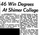 Morning Star/1963-06-06/46 Win Degrees At Shimer College