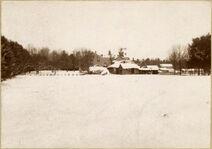 Seminary campus in snow