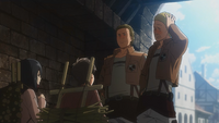 Eren argues with Hannes
