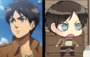 Eren anime and chibi-90px