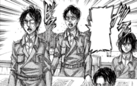 Eren lashes out during the meeting
