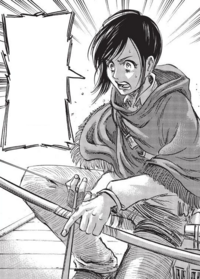 Sasha saves Mikasa from Dimo Reeves