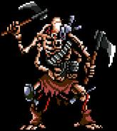 Armed skeleton idle