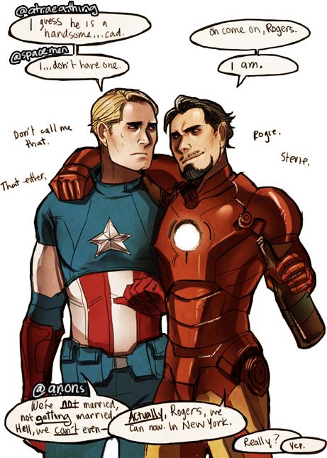 Image - Marvel - Avengers - Stony Steve Rogers Tony Stark ... Tony Stark X Steve Rogers Yaoi