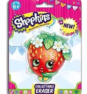 Collectable strawberry eraser