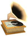 Furniture vinyl player