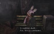 Heather examines Robbie's costume
