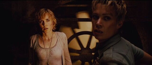 File:Cybil & Rose hears the approching Pyramid Head.JPEG