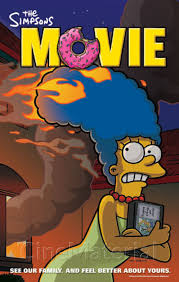 File:The Simpsons Movie Marge running with her hair on Fire Poster.jpg