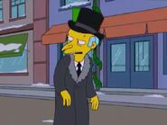 Ebenezer burns in simpsons Christmas stories