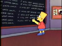 Chalkboard gag (Bart the Genius)