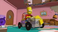 Lego Dimensions Bart riding his Soap Box Racer