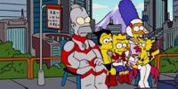 Anime Character Family couch gag