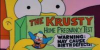 Krusty-Brand Home Pregnancy Test