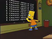 Simpsons Bible Stories Chalkboard Gag