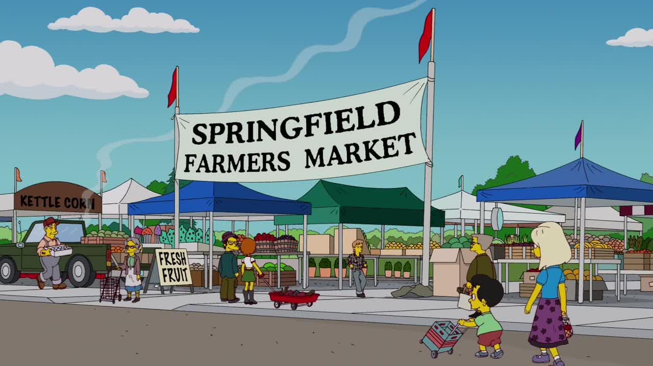 springfield farmers market simpsons wiki fandom