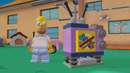 Lego Dimensions Homer with his exploding T.V.